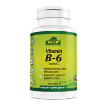 Vitamin B6 100 mg - 100 Tablets