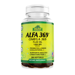 Alfa 369 - Omega 369 - Organic Flax Oil 1000 mg  - 200 softs
