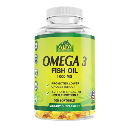 Omega 3  Fish Oil  1000 mg - 400 softgels
