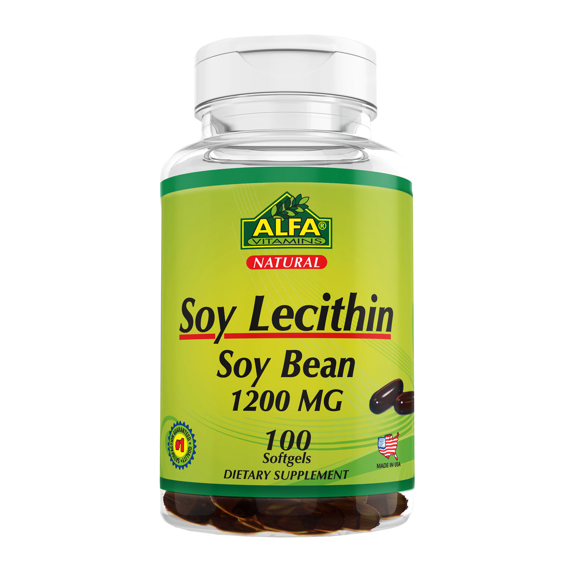 Soy Lecithin 1200 mg - 100 softgels