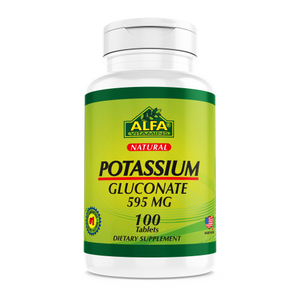 Potassium Gluconate 595 mg - 100 tablets