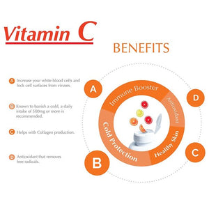 Vitamin C / 1000 mg / 100 tablets