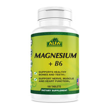 Magnesium Plus B-6 500 mg - 100 tablets