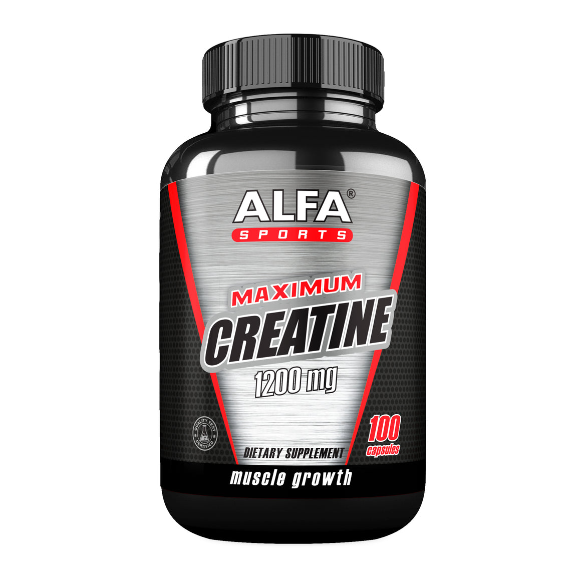 Maximum Creatine 1200 mg - Muscle Growth - 100 capsules