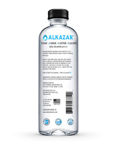 ALKAZAR - Natural Alkaline Water with pH 8.5+ - 12Pack