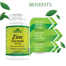 Zinc Gluconate 50 mg - 100 tablets
