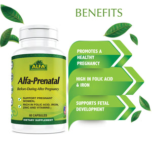 Alfa Prenatal - Before & After Pregnancy - 60 Capsules