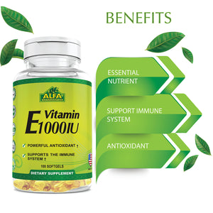 Vitamin E 1000 IU - 100 softgels