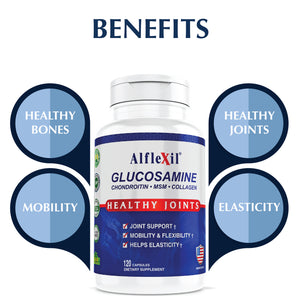 Alflexil® - Glucosamine Chondroitin MSM Collagen-120 capsules