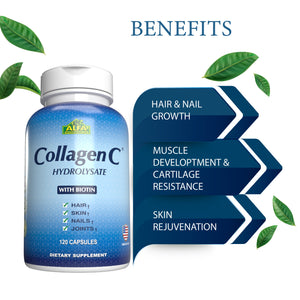 CollagenC Hydrolysate - Vitamin C - 120 capsules