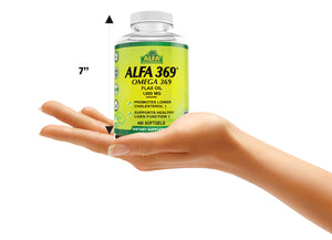 Alfa 369 - Omega 369 - Organic Flax Oil 1000 mg - 400 softs