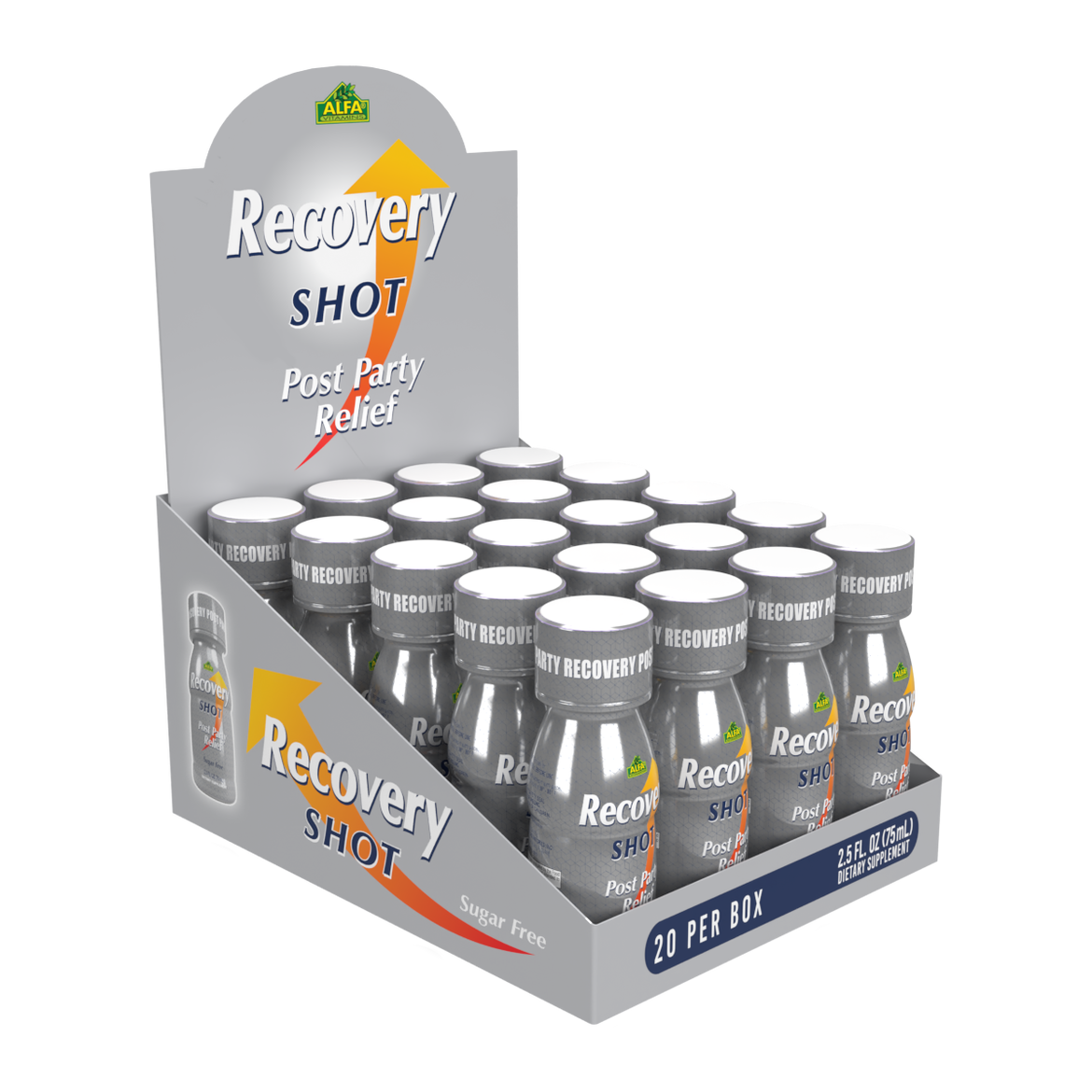 Recovery Drink Shot - Orange Flavor - 20 Pack