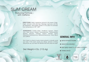 Slim Cream Reduce formula with Caffeine - 4 oz