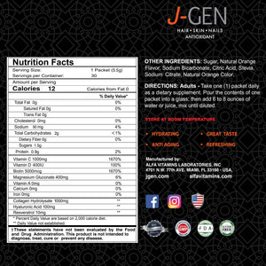 J-GEN Powerful Antioxidant Powder drink - 30 Sachets