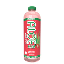 ALOE ZONE Strawberry Flavor - 34 oz bottle - 9 Pack