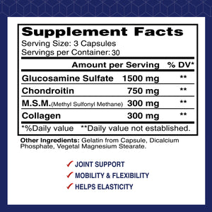 Alflexil® - Glucosamine Chondroitin MSM Collagen - 90 capsules
