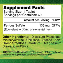 Iron 136 mg - 60 tablets