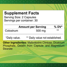 Colostrum 500 mg - 60 capsules