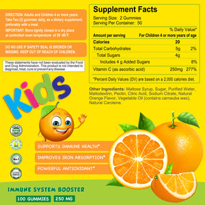Vitamin C Gummies for Kids - 250mg - 100 Gummies