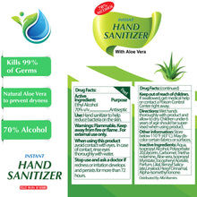 Advanced Hand Sanitizer with Aloe Vera - Travel Clip 1.7 FL OZ