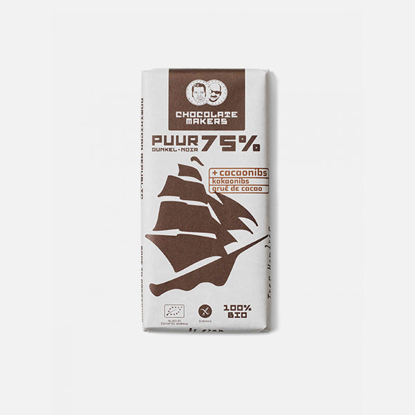 Chocolate Makers - Puur 75% met cacao nibs