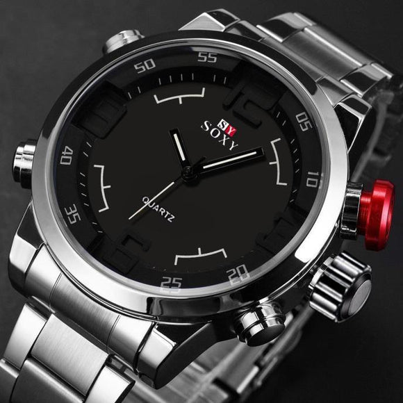 Mens Luxury Army Sport Wrist Watch Waterproof Analog Quartz Watches - Watchetto