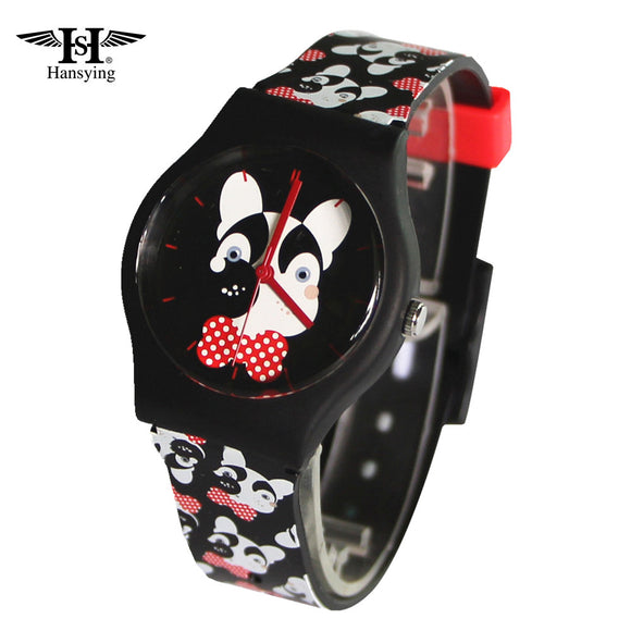 HANSYING Women's Watch Casual Resin Strap Cartoon MiNi Dog Design Waterproof Quartz - Watchetto