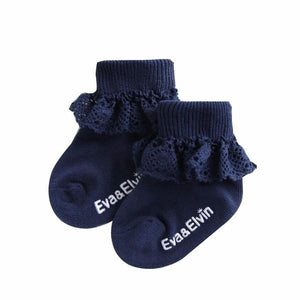 Frill Ankle Socks - Classic Navy