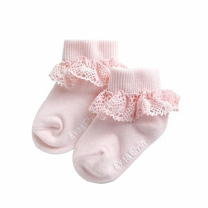 Frill Ankle Socks - Classic Pink