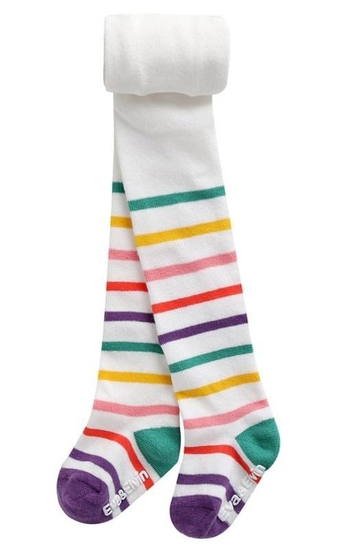 Stripe Tights- Candy White