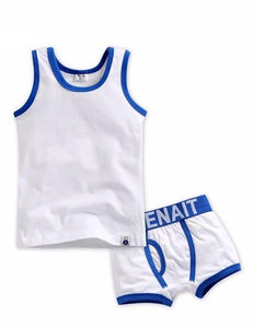 Undershirt + Boxer Set - White