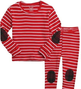 Crayon Red Long Sleeve PJ's