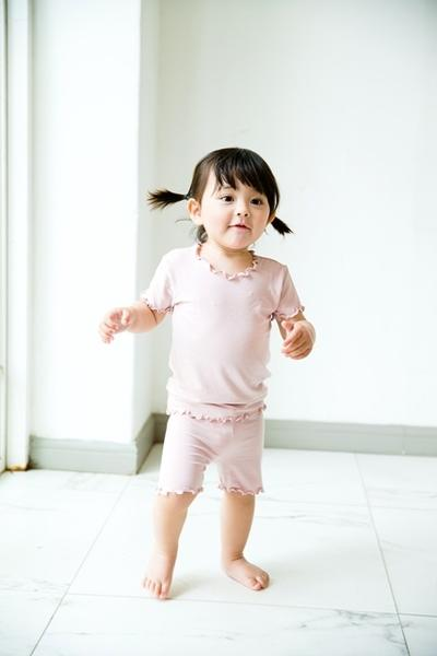 Shirring Loungewear Set - Greypink