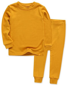 Long Sleeve Pajama Set- Mustard