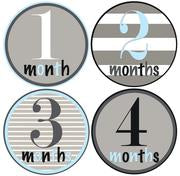 Blue & Grey Mix Month Stickers