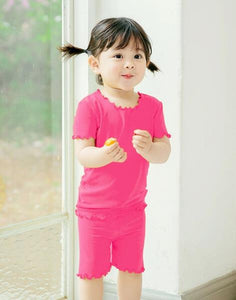 Shirring Loungewear Set - Magenta Pink