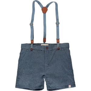 Captain Shorts w/ Suspenders - Chambray