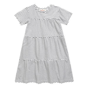 May Dress- White Line