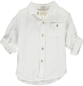 Merchant Long Sleeve Shirt- White