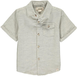 Newport Short Sleeved Shirt- Pale Grey