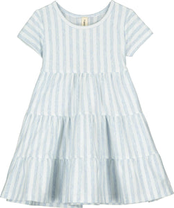 Iona Dress- Blue & White Stripes