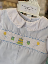 Petit Ami Birthday Smocked Romper