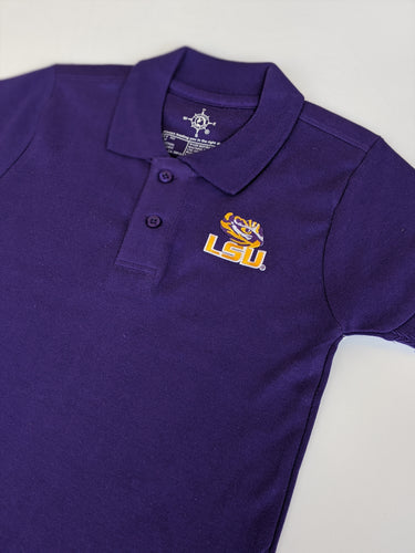 LSU Polo Shirt- Purple