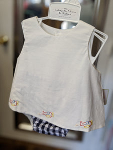 Navy Airplane Diaper Set