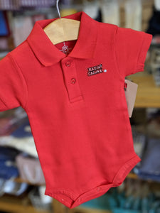 UL Polo Bodysuit- Red