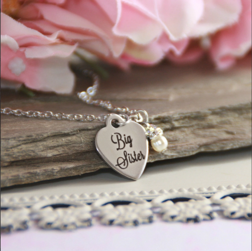 Big Sister Stainless Steel Heart Necklace