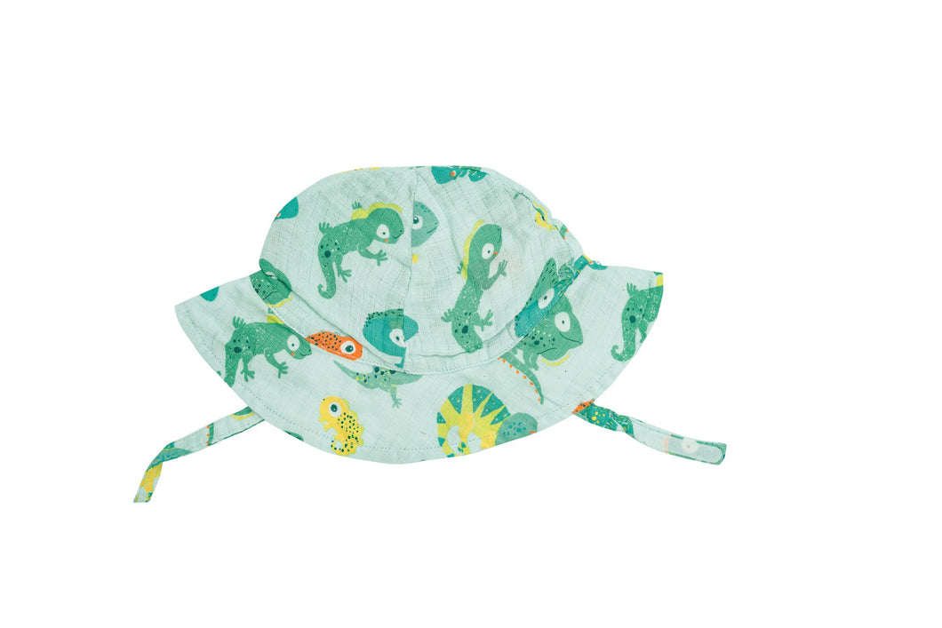 Lizards Sunhat- Opal Blue