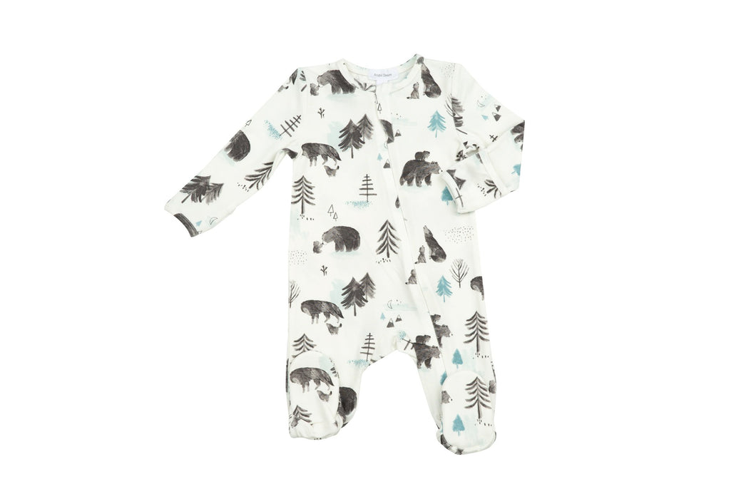 Mama and Cubs Zipper Footie