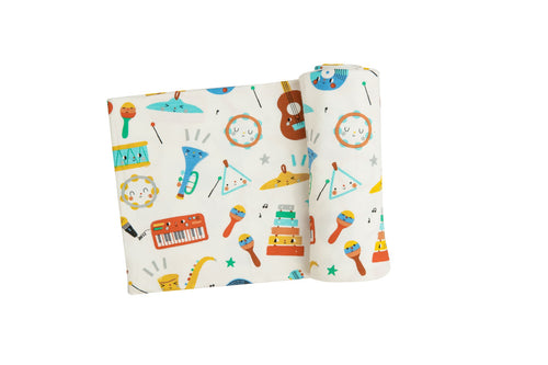 Happy Music Swaddle Blanket