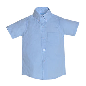 Blue Pique Brother Shirt